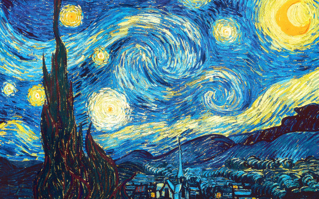 Van Gogh's Starry Night has always made me feel at peace.