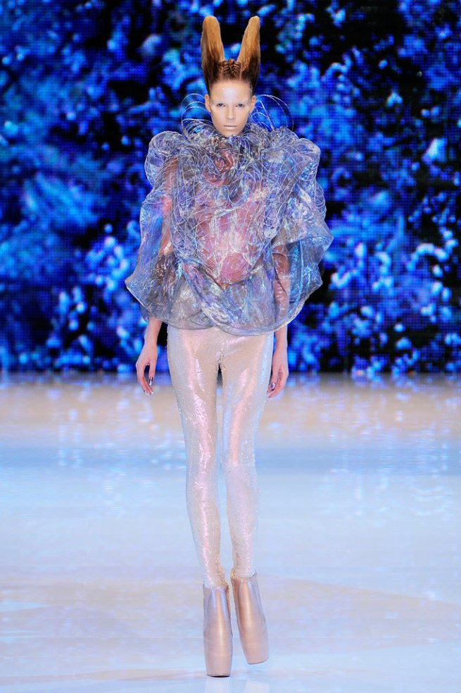SS 2010 I immediately thought of a jellyfish when I saw this look. Maybe life under the sea is better after all.