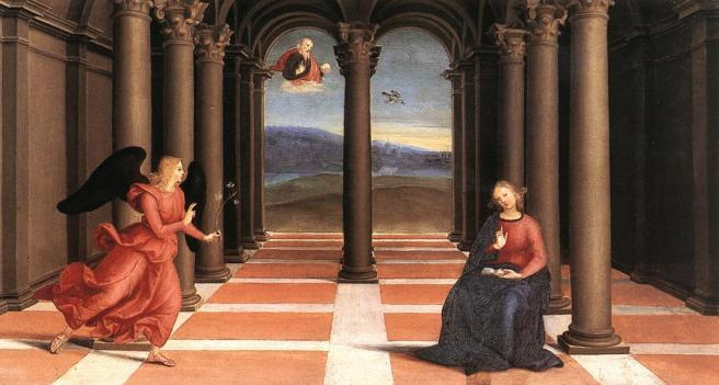 Raphael's Annunciation shows the perfect use of proportions, of foreshortening and chiaroscuro. I have always believed that if you want a true example of Renaissance painting, you should look at Raphael's work and you will understand it.