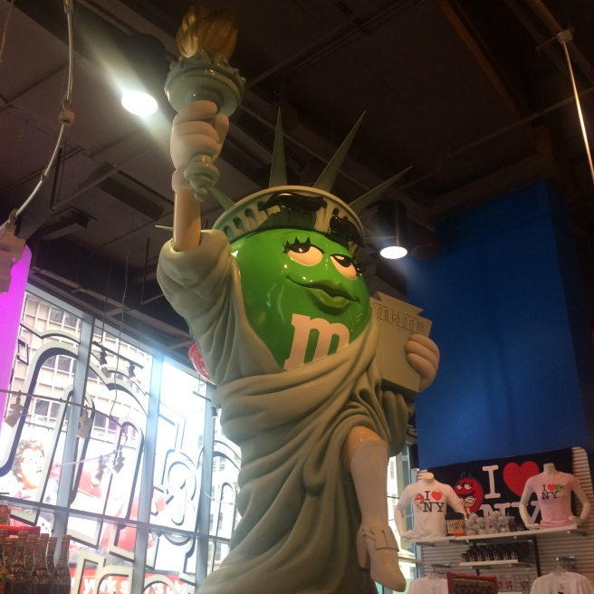 Hello NYC. Our first stop the moment we checked in: the m&m store. There's never enough candy for one person.