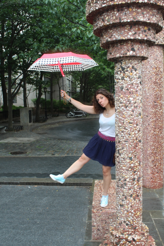 I was dancing in the rain.