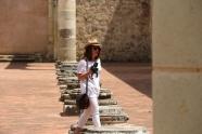 Tourist look at its peak
